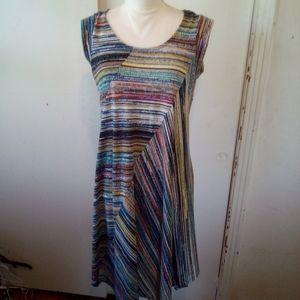 ND colorful sleeveless dress size M